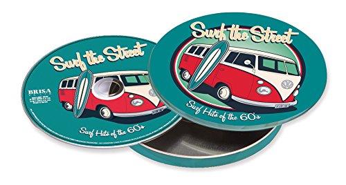 Preisvergleich Produktbild VW Collection by BRISA Musik-CD mit Surfhits der 60er Jahre, in wunderschöner runder Metalldose mit VW Bulli T1 Motiv