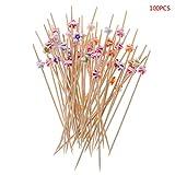 Manyo Zahnstocher, Bambus, für Party, Salat, Blume, Acryl, 100 Stück