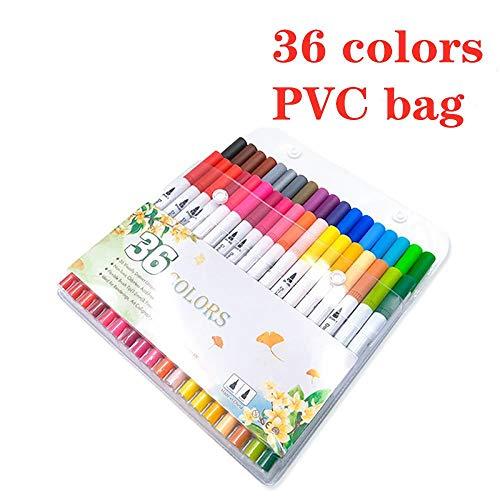 Wasserbasierter, doppelköpfiger Marker, Aquarellstift-Set, farbiger Hakenlinienstift, weicher Kopfstift, Beutel mit 36   Farben
