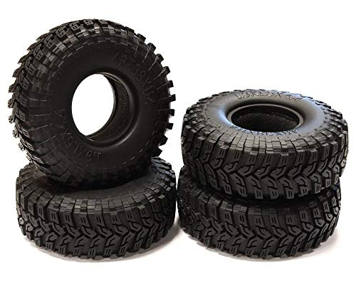 Integy RC Model Hop-ups C25105 1.9 Size All Terrain (4) Tires Tire Type X for 1/10 Scale Crawler (O.D.=112mm)