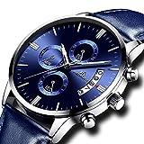 67fbd0a1fa4068 Orologio Uomo Orologio da Polso Cronografo Impermeabile Sportivo Data  Calendario Lusso Moda Orologi Blu in Pelle