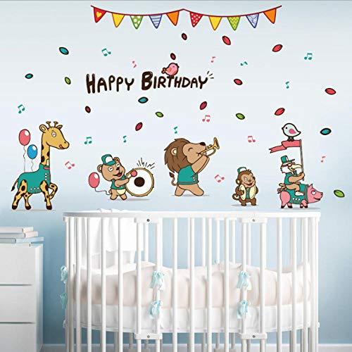 Cartoon Tier Band Wandaufkleber Kinder Puzzle Raumdekoration Hintergrund selbstklebende entfernbare Aufkleber (Puzzle-stück Band)