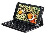 Navitech Case / Cover / Tasche / Hülle mit Standfunktion und QWERTZ Bluetooth Keyboard für dasMEDION LIFETAB P8514 + P8502 ALDI
