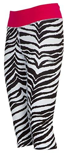TAO Sportswear, W's Knicker Tights, atmungsaktive 3/4 Damen Laufhose mit Quick Dry Funktion, Sporthose in animal zebra print, Größe 40