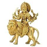 Redbag Eight Armed Goddess Durga Seated on Lion