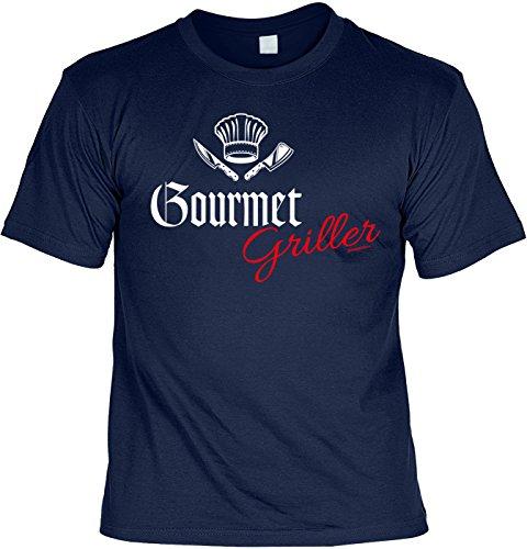 Griller T-Shirt - GOURMET GRILLER - FunHemd für BBQ und Grillen Navyblau