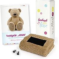 kullaloo - Set de tela para coser con instrucciones de costura (pueden no estar en español), diseño de oso y ojos de seguridad, se envía en una encantadora caja de regalo de unicornio