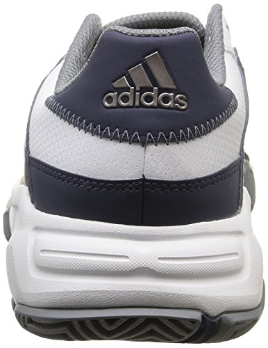 adidas Barricade Court Herren Sneaker Blanc (Ftwr White/Tech Silver Met/Midnight Grey)
