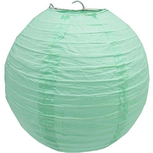 Matissa 16'(40CM) Lámparas de techo esféricas de papel (pack de 3) (Menta...