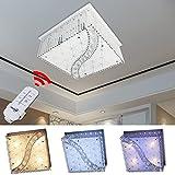 HG 40W LED Kristall Deckenleuchte Deckenlampe Modern Kronleuchter Pendelleuchte Energie Sparen für Wohnzimmer Küchen Schlafzimmer