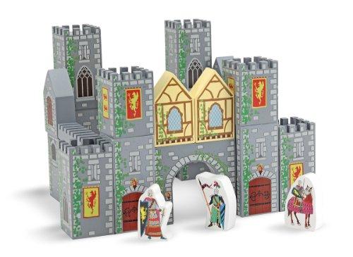 Melissa & Doug - Bloques de madera para castillo (10532)