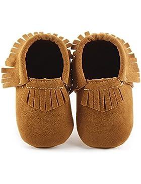 Hongfei Unisex Antiskid Toddler Infant Baby Girl Boy Shoes con suela Tassels Soft