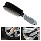 Car Wheel Cleanning Brush Xpassion Soft Alloy Brush Cleanner Tire Wheel Brush Drill Cleaning Tool Non-Scratch Material