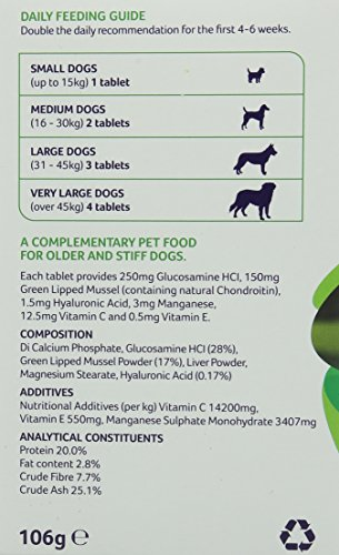 Lintbells YuMOVE Dog Joint Supplement for Stiff and Older Dogs – 120 Tablets