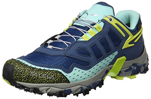 Salewa Ws Ultra Train Gtx, Zapatillas de Senderismo Mujer, Multicolor Dark Denim/Aruba Blue, 39