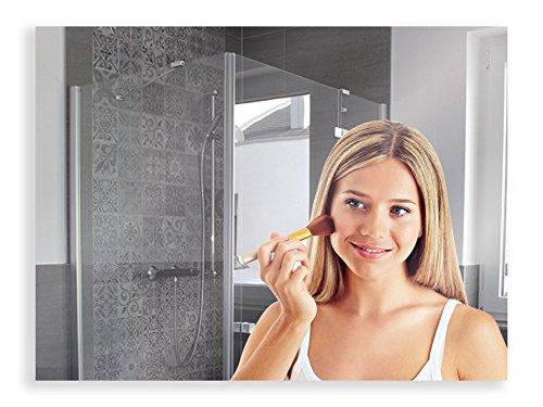 Artland Qualitätsspiegel I Spiegel Badezimmer Wandspiegel Bad Badezimmerspiegel ohne Rahmen 80 x 60 cm Badspiegel ohne Beleuchtung B8JP