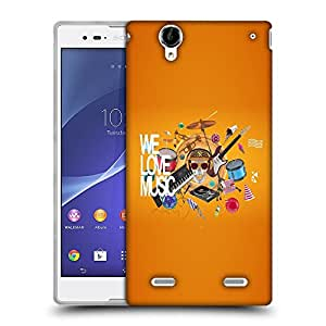 Snoogg We Love Music Designer Protective Back Case Cover For SONY XPERIA T2 ULTRA