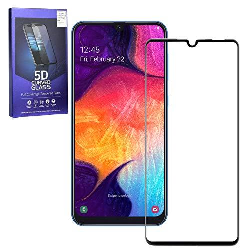 MOELECTRONIX 5D Komplett FullCover 9H Glas Schutz Folie Screen passend für Huawei P20 Lite Dual SIM ANE-L21