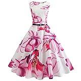 MRULIC Hochzeitskleid Dresses Bridesmaid Feiertagskostüm Beautiful Feiertagskleid Evening Festival dresses Carnival Oktoberfest Erntedankfest(H-Pink,EU-38-40/CN-L)
