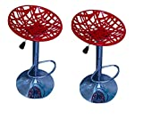 #3: MBTC Spider Bar Stool Chair In Red ( Set of 2 )