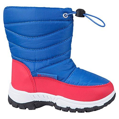 mountain-warehouse-doposci-bambino-bambina-unisex-stivali-neve-invernale-stampa-junior-caribou-cobal