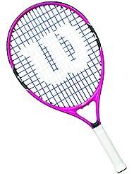 Wilson Burn - Raqueta de tenis para niños, color rosa / negro / azul, 25 pulgadas