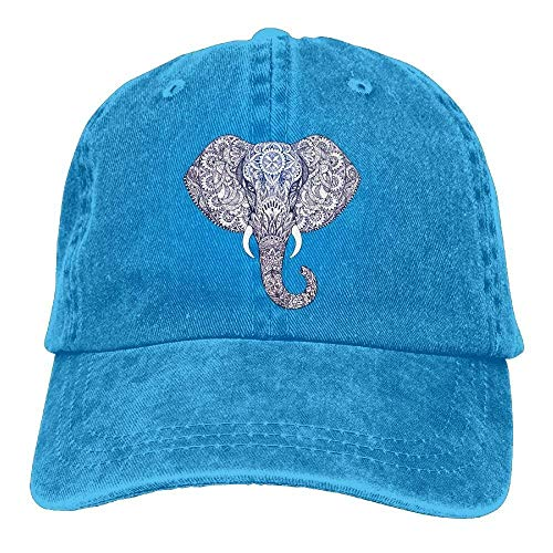 Bgejkos Tattoo Elephant Patterns Snapback Cotton Cap ABCDE08728