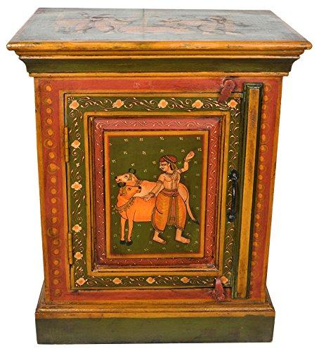 Baúl decorado con la imagen de lazos y pasteles – Color sobre mader