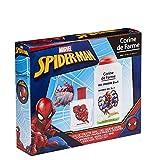 Corine De Farme | Spider-man Coffret Cadeau | Marvel | Parfum Enfant 50ml | Gel Douche Enfant 250ml | Porte-clés | Fabriqué en France