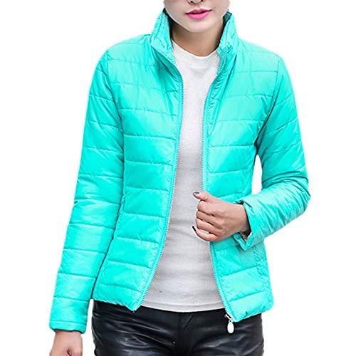 Sunnyuk Daunenjacke Damen kurz Winterjacke Ultraleicht Street einfarbig Stehkragen mädchen Jacken -