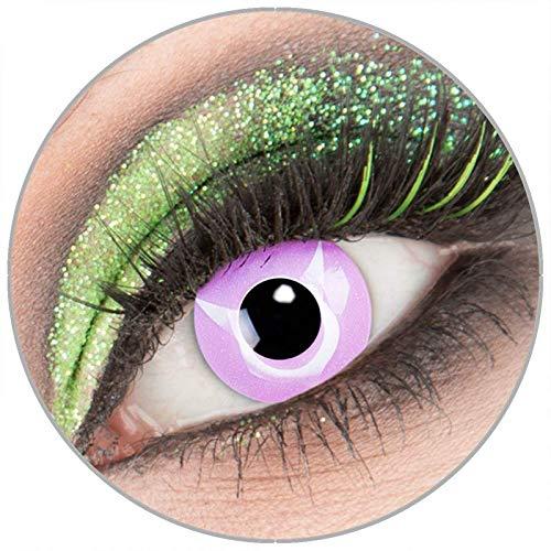 Farbige rosa violette 'Geass' Kontaktlinsen ohne Stärke 1 Paar Crazy Fun Kontaktlinsen mit Behälter zu Fasching Karneval Halloween - Topqualität von 'Giftauge'