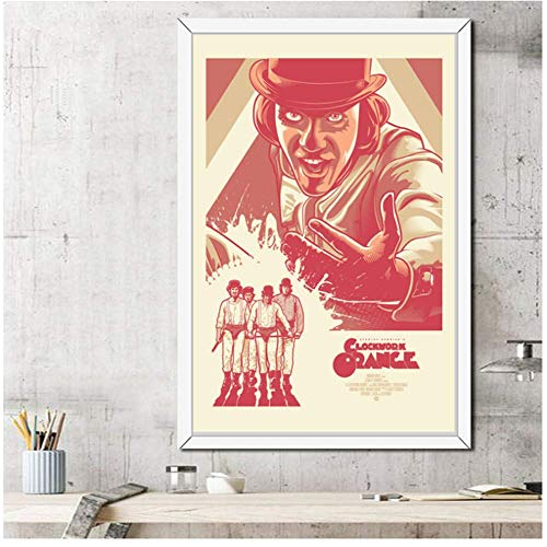 A&D EIN Uhrwerk Orange 1972 Classic Horrorfilm Vintage Stanley Kubrick Kunst Malerei Leinwand Poster Wand Home Decor-50x70cmx1pcs-No Frame -