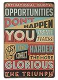 Motivational Quotes Blechschild Metall Neuheit Retro Vintage Blechschild Wandschild 20x 30cm Deko Schild–Ideal für Pub Bar Office Home Schlafzimmer Esszimmer Küche–Cool Classic Geschenk Shabby Chic
