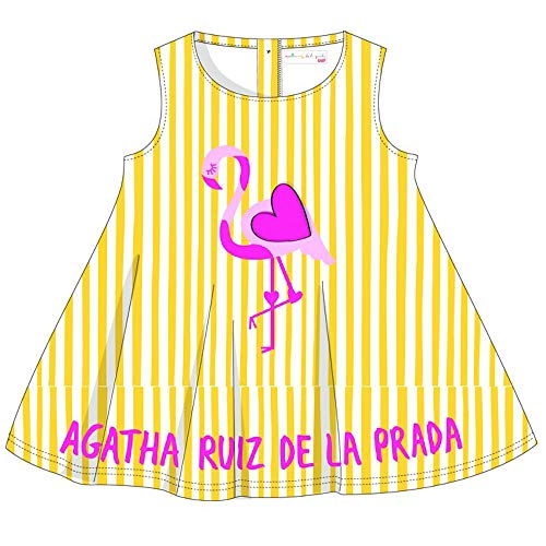 Agatha Ruiz De La Prada Mädchen Kleid 7502S19 gelb (8 Jahre)