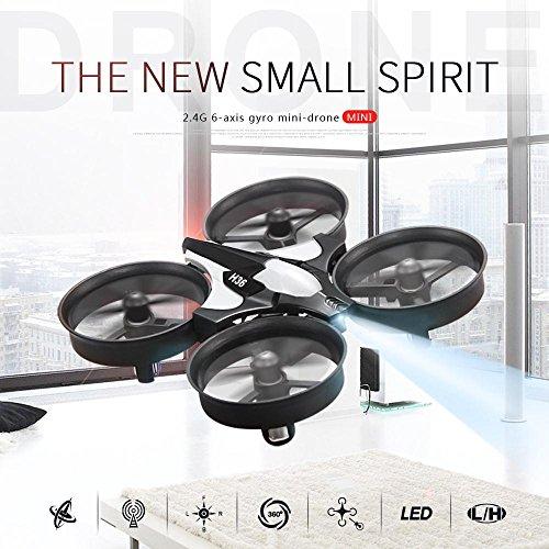 Hanbaili H36 mini Drone con modo sin cabeza para niños, giro de 360 grados Roll One-key Return Easy Control y Safty, los mejores juguetes voladores para tus hijos
