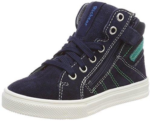 Richter Kinderschuhe Jungen Ola Hohe Sneaker, Blau (Atlantic/Menta), 26 EU
