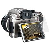 atFoliX Schutzfolie für Pentax X-5 Displayschutzfolie - 3 x FX-Antireflex blendfreie Folie