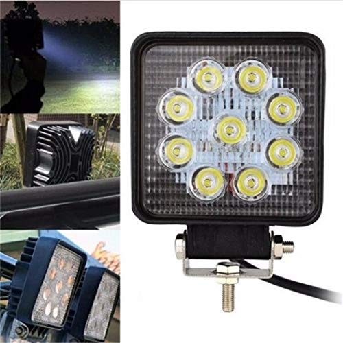 Wokee 27W LED Flut, Lampe für Suchen Arbeitslampe Notbeleuchtung Baubeleuchtung Lampe führte Arbeit Licht Bar Auto Boot LKW Offroad SUV 4 Zoll 12 V 24 V für Boot,Geländewagen