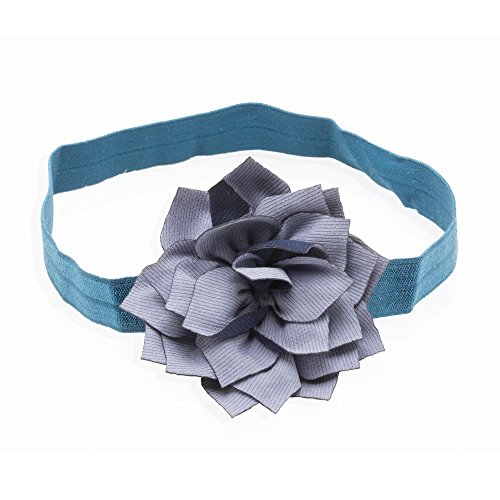 NeedyBee Dark Blue Head Band With Big Flower Hair Accessories for Baby Girls