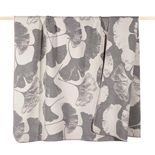 Pad - Decke - Kuscheldecke - Wohndecke - Ginkgo - grau - 150 x 200 cm