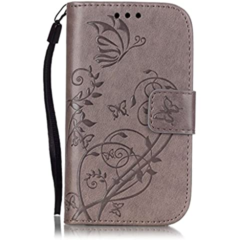 Leather Case Cover Custodia per Samsung Galaxy S3 mini i8190