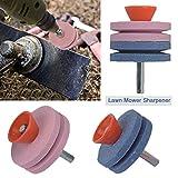 Affilatrice del tosaerba - Tagliaerba a un solo strato/doppio Lama Power Rig Grinder Pietra a disco per trapani - Set di 2/4 - Affilato; Resistente; Equilibrio