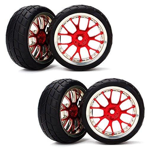 DN Forma RC 1:10 piatto Car Racing Y Pneumatici Hub cerchione griglia grano (pacchetto di 4)