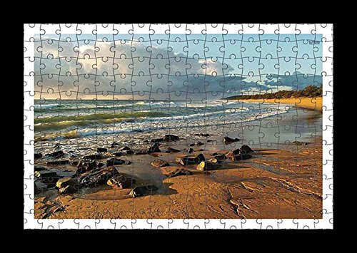 puzzle-style-preensamblado-impresion-de-la-pared-de-rocks-on-sandy-beach-by-lisa-loft