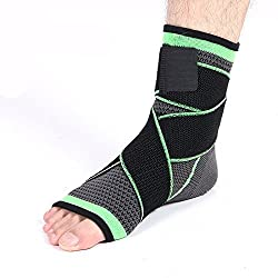 Generic L : JORZILANO 1Pcs Ankle Support Pad Protection Bandage Brace Support Foot Wrap Protection Neoprene Ankle Stabilizer Health Care