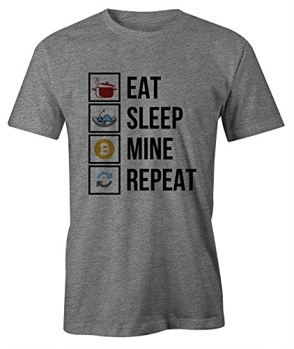 t Sleep Mine Repeat Cryptocurrency Btc Ltc Digital Currency T-Shirt Herren Grau Large (Cute Nerd-outfit)