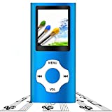 Tabmart Metal Hi-Fi Capacità Di Lettore MP3 Musicale Portatile Lettore MP4 Ad Alta Risoluzione Con 1,8 Pollici Schermo MP3 Lettore Multifunzione 10 Ore 4GB Di Riproduzione Continua, Blu