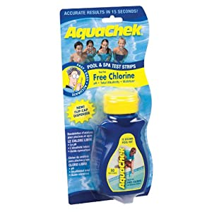 AquaChek 511244A Swimming Pool and Spa Test Strip, Yellow