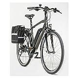 Zündapp Green 4.0 Trekking E-Bike | 28 Zoll | braun matt | 2 Akkus | Packtasche | Hinterradmotor bürstenlos 250 W | Radgewicht ca. 23 kg | Elektrofahrrad | 24 Gänge Shimano Kettenschaltung | Rahmenhöhe ca. 52 cm | Reichweite ca. 100 km | Anti-Rutsch-Pedale