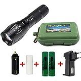 Coomatec Ultra starken 1200Lumen LED Taschenlampe Taschenlampe schafft Zoom Flashlight Kits